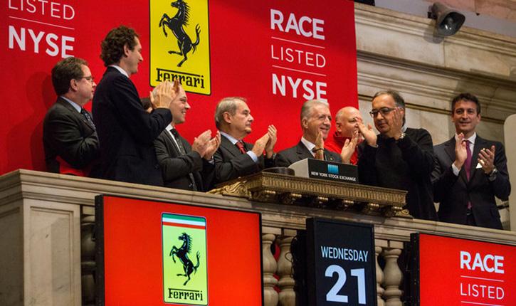 Ferrari este listat de astăzi la bursa din Milano