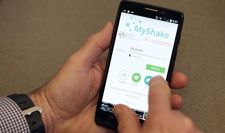MyShake aplicație mobilă subversiv