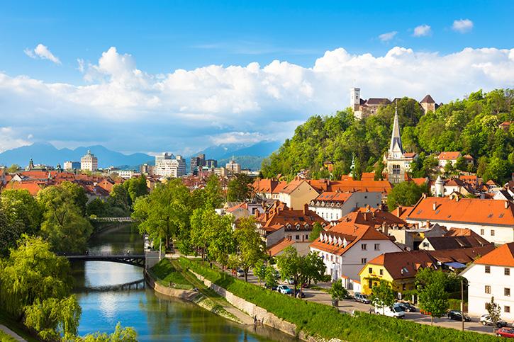 Panorama Ljubljana Slovenia, Europe.