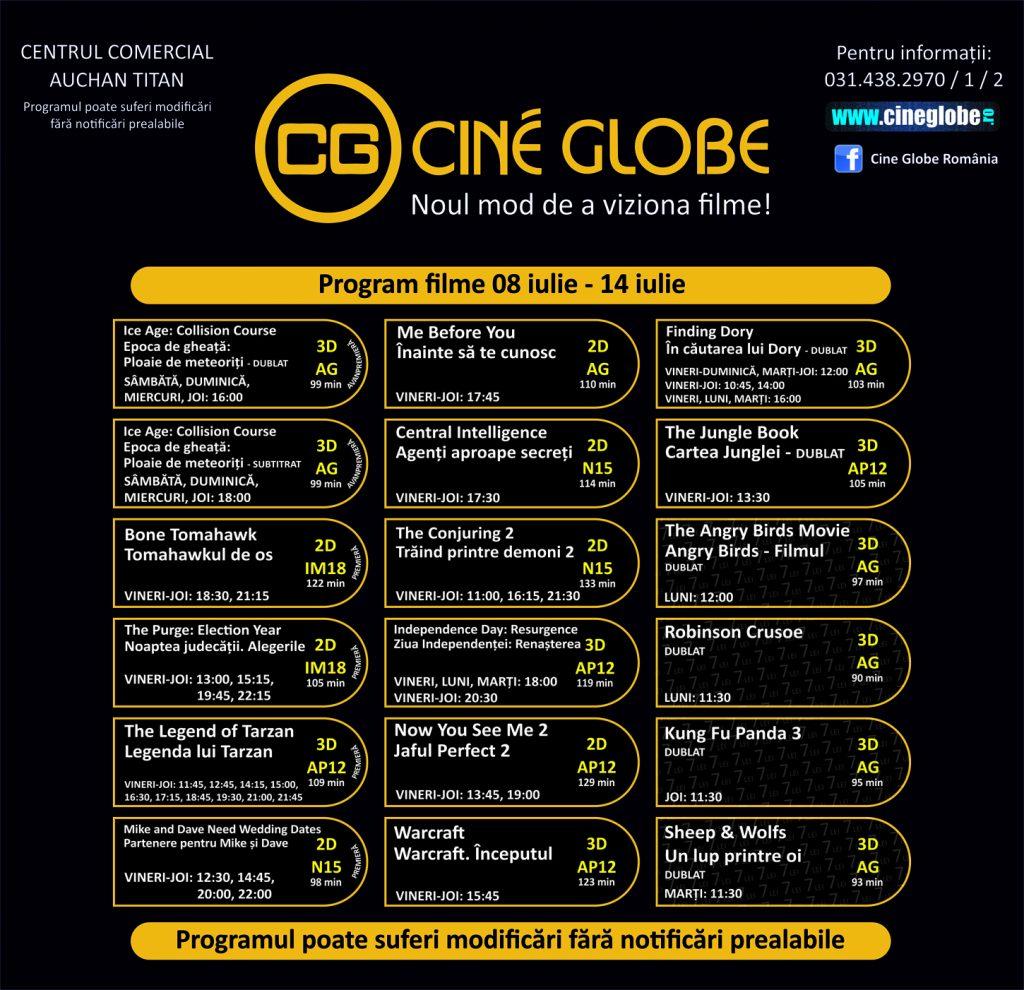 Cine Globe Titan 08-14 iulie