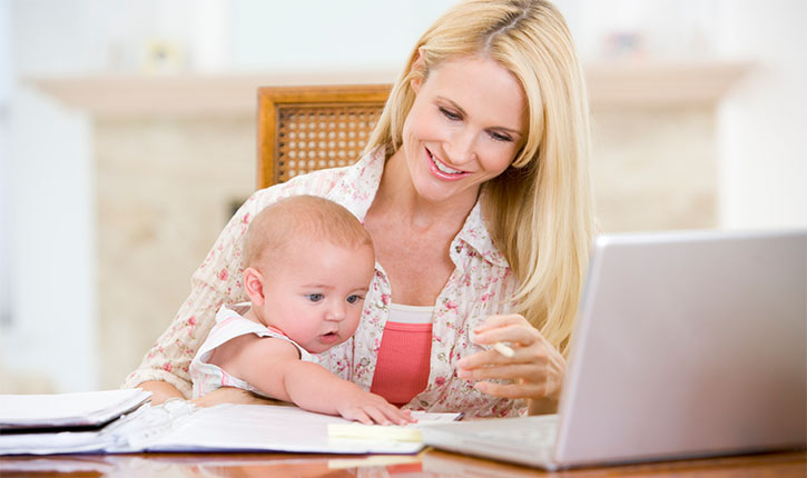 mama copil laptop