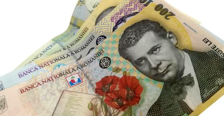 lei bani bancnote 100