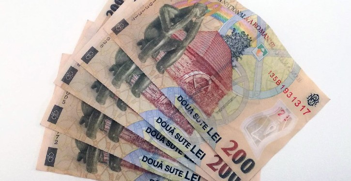 lei bani bancnote 200